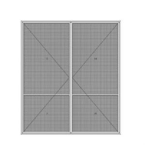 Plissee XL   schwellenlos   für Türen (Kettenmechanismus)