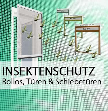 Insektenschutz, Rollos und Schiebetüren