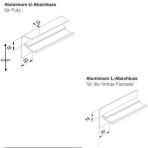 Fensterbank Abschlüsse 25mm