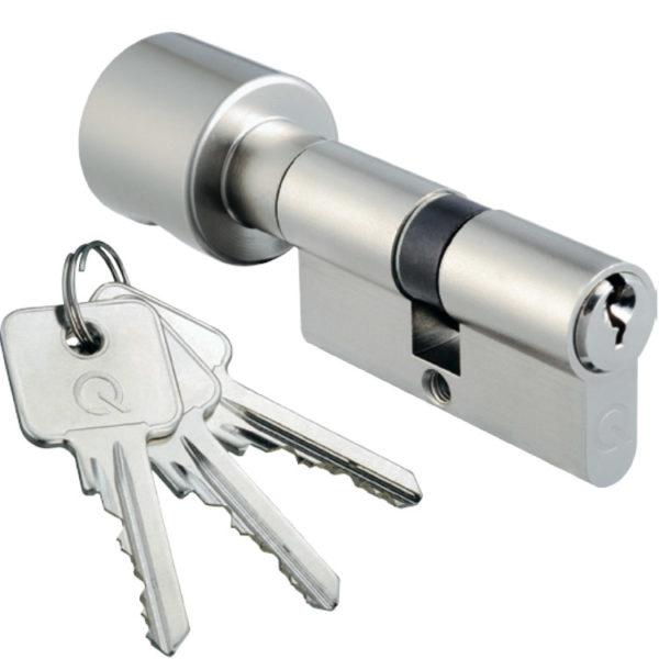 Profil-Knaufzylinder mit 3 Schlüssel, 50/45
