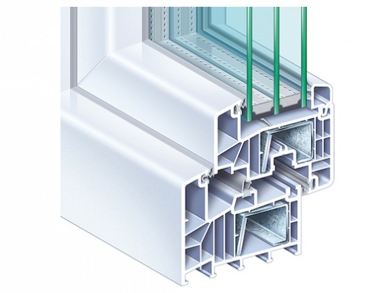 PVC - Thermofenster 1flg (6 Kammern)