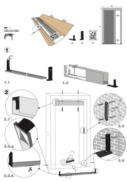 Insektenschutz Plissee für Türen (8mm Schwelle)
