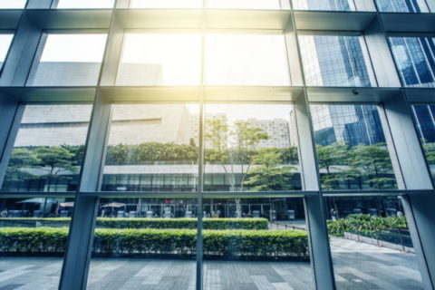 Fenster und Tür Rahmen mit Reflex Glas, PVC Materialen, Glaspakete