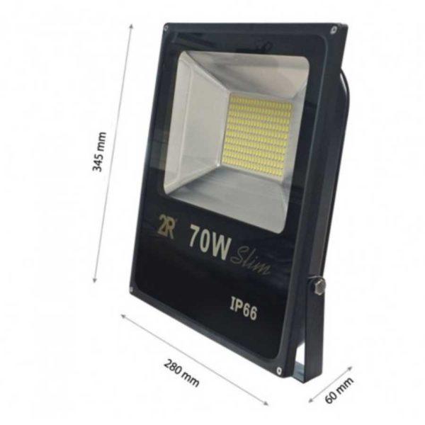 LED Scheinwerfer/ FLUTER ULTRAHELL SMD IP65 - schwarz - STANDARD - KALTWEISS - (für Außenbereich)
