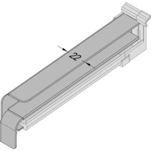 Außen-Fensterbank Seitenabschluss-mit-Dichtteil-fur-Putz-Alu-RAG-4-Schnitt