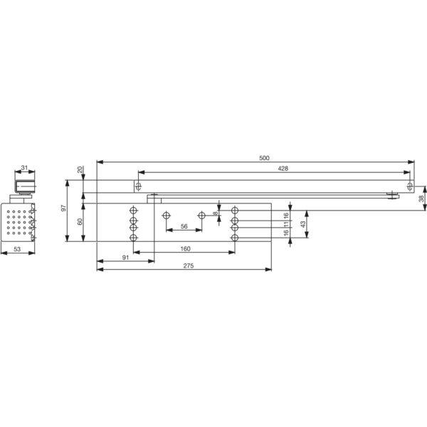 Türschließer DORMA TS 93 EN 2-5, 1-flg. mit Gleitschiene