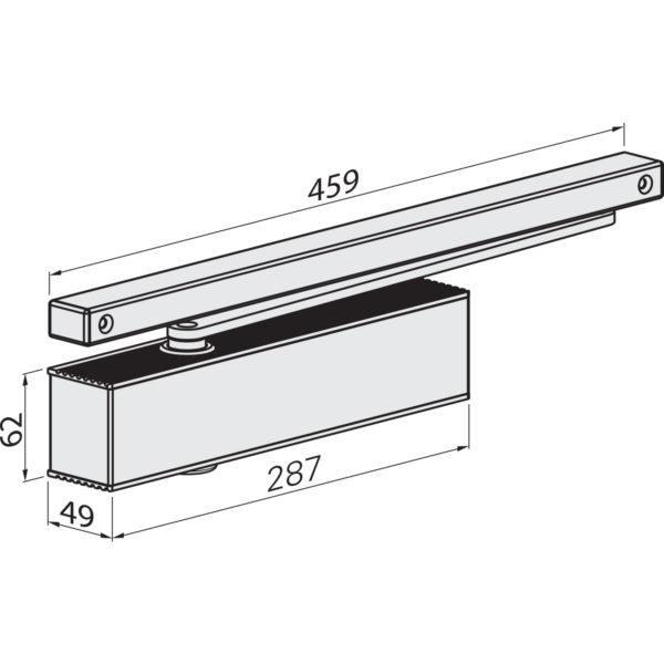 Türschließer ECO TS 61 G GSB, EN 5-6, 1-flg. mit Gleitschiene, silber