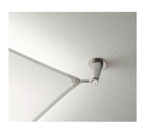 Deckenleuchte Veroca LED Stoffsegel weiß