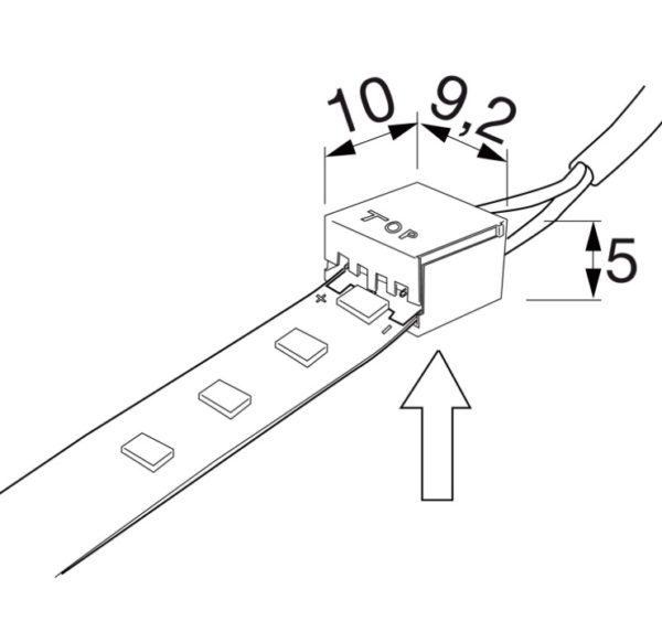 Verbindungssleitung zu LED-Band BILTONTWO mit 2 Clip