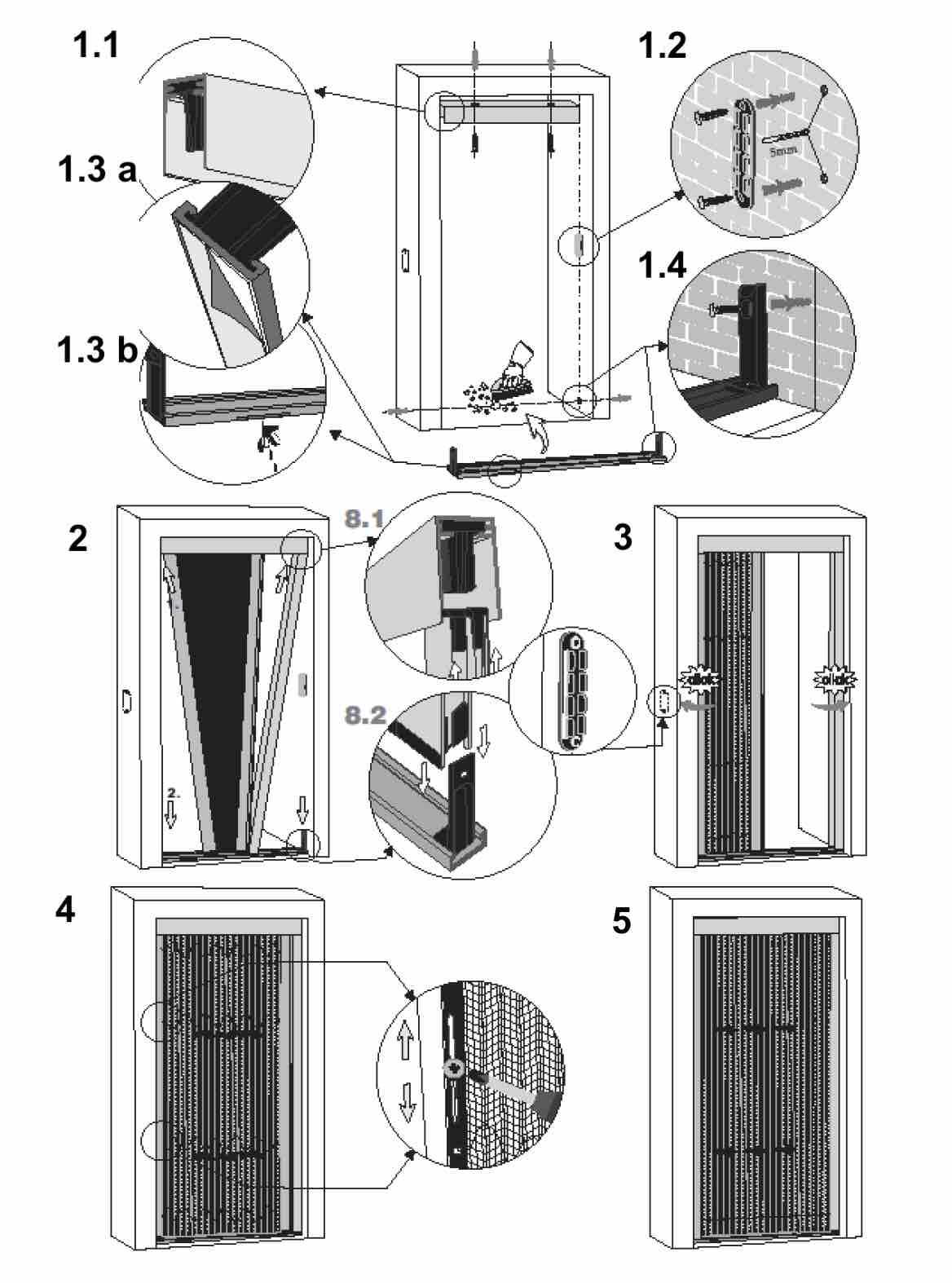 Plissee für Nischenmontage   Bautiefe 22mm