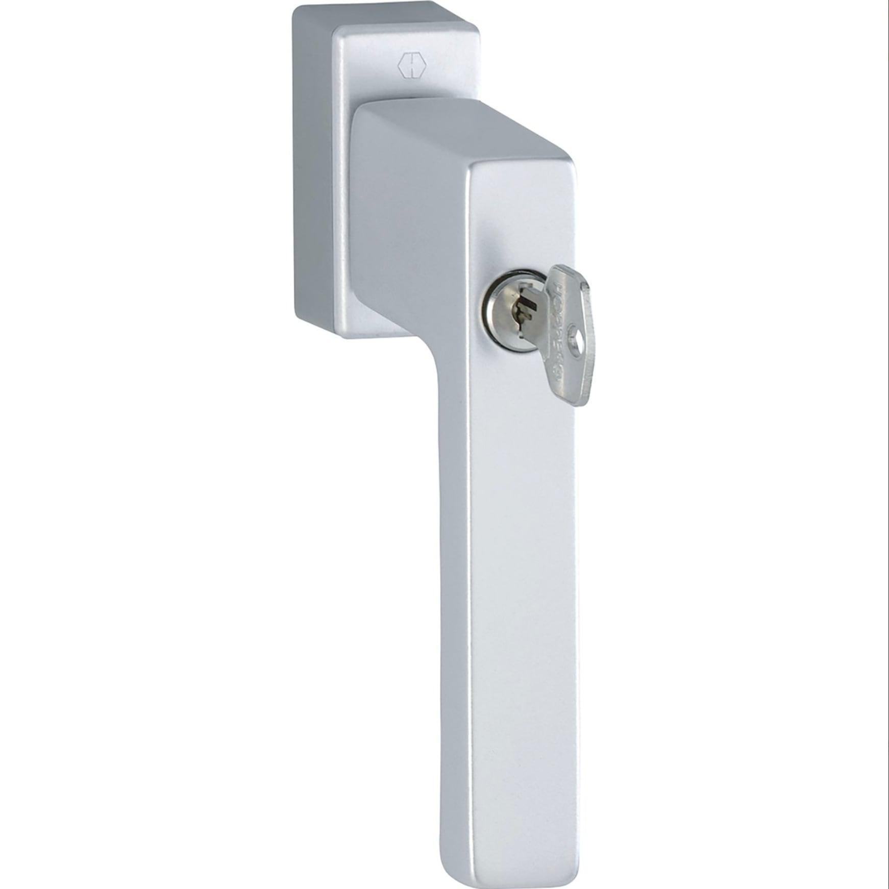 Fenstergriff-HOPPE-TOULON-sperrzylinder-silber-eloxiert