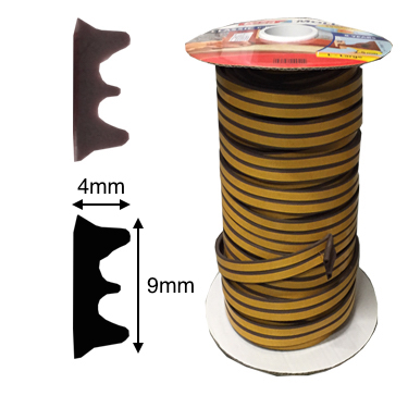 TESA – Gummidichtung für 1-3,5mm Fensterfuge
