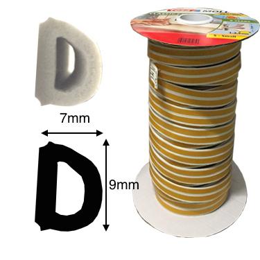 TESA - Gummidichtung für 3-7mm Fensterfuge