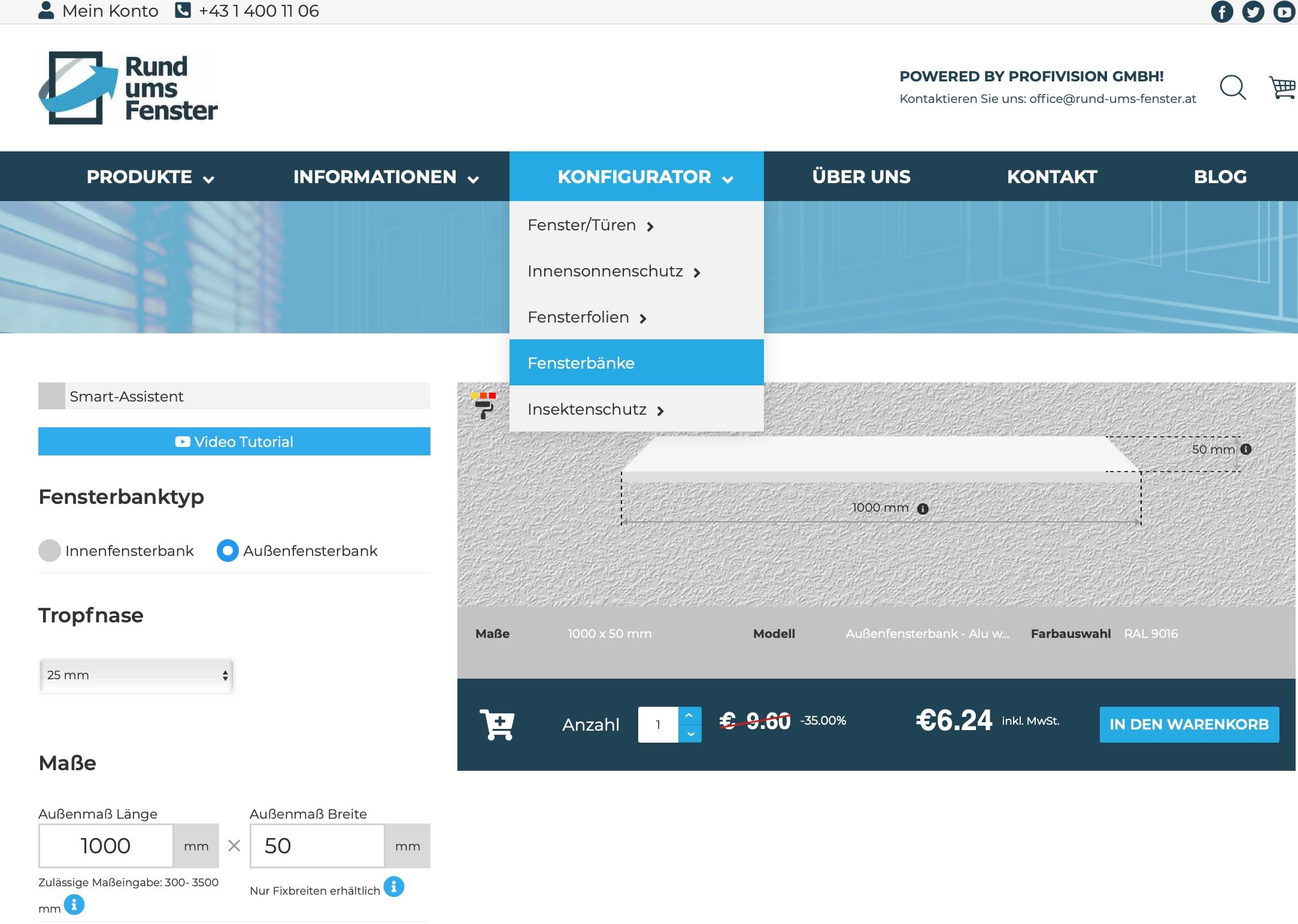 Außenfensterbänke-Online-Konfigurator-Smart-Asistent