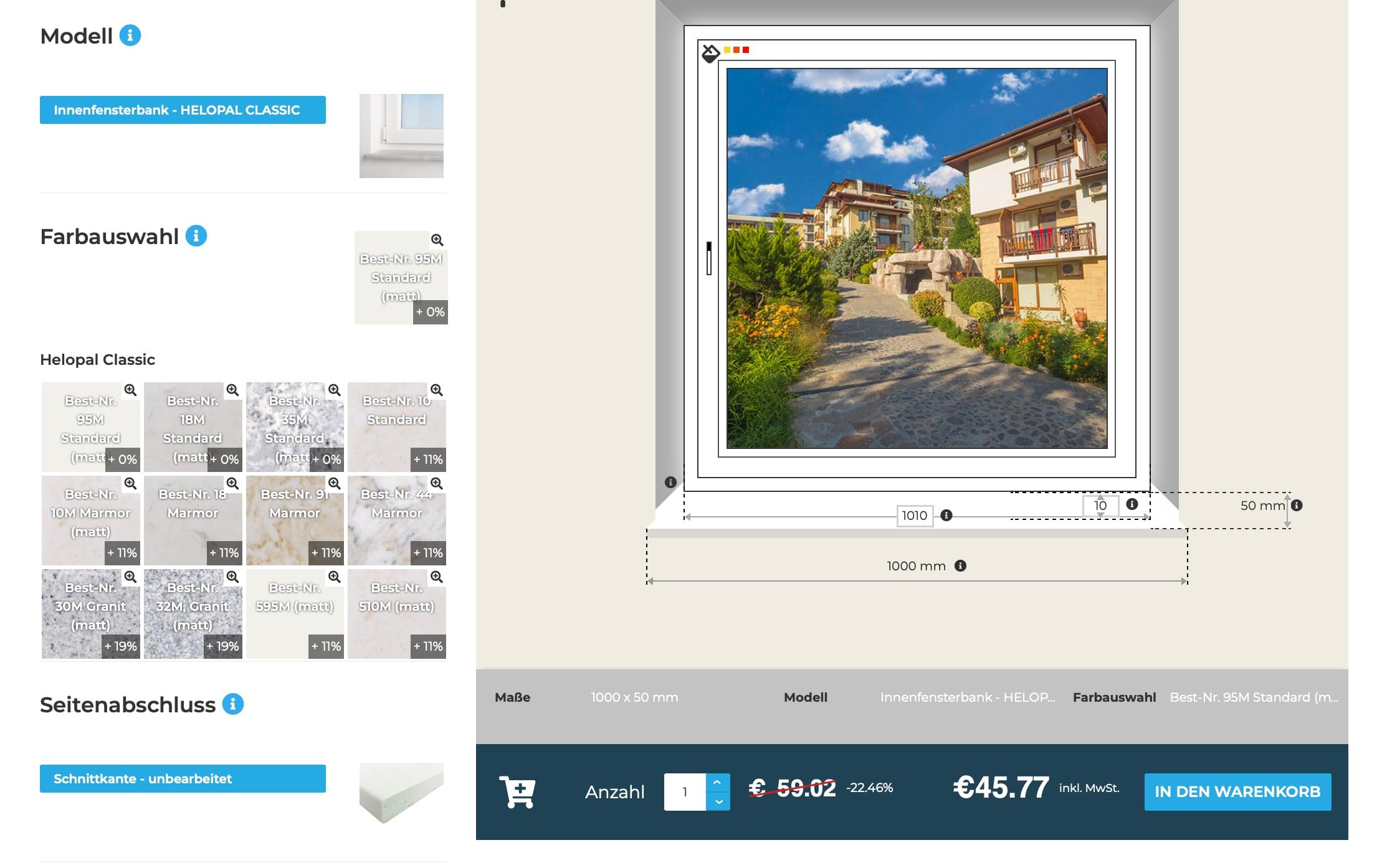 Innenfensterbänke-Online-Konfigurator-Farbauswahl-Seitenabschluss