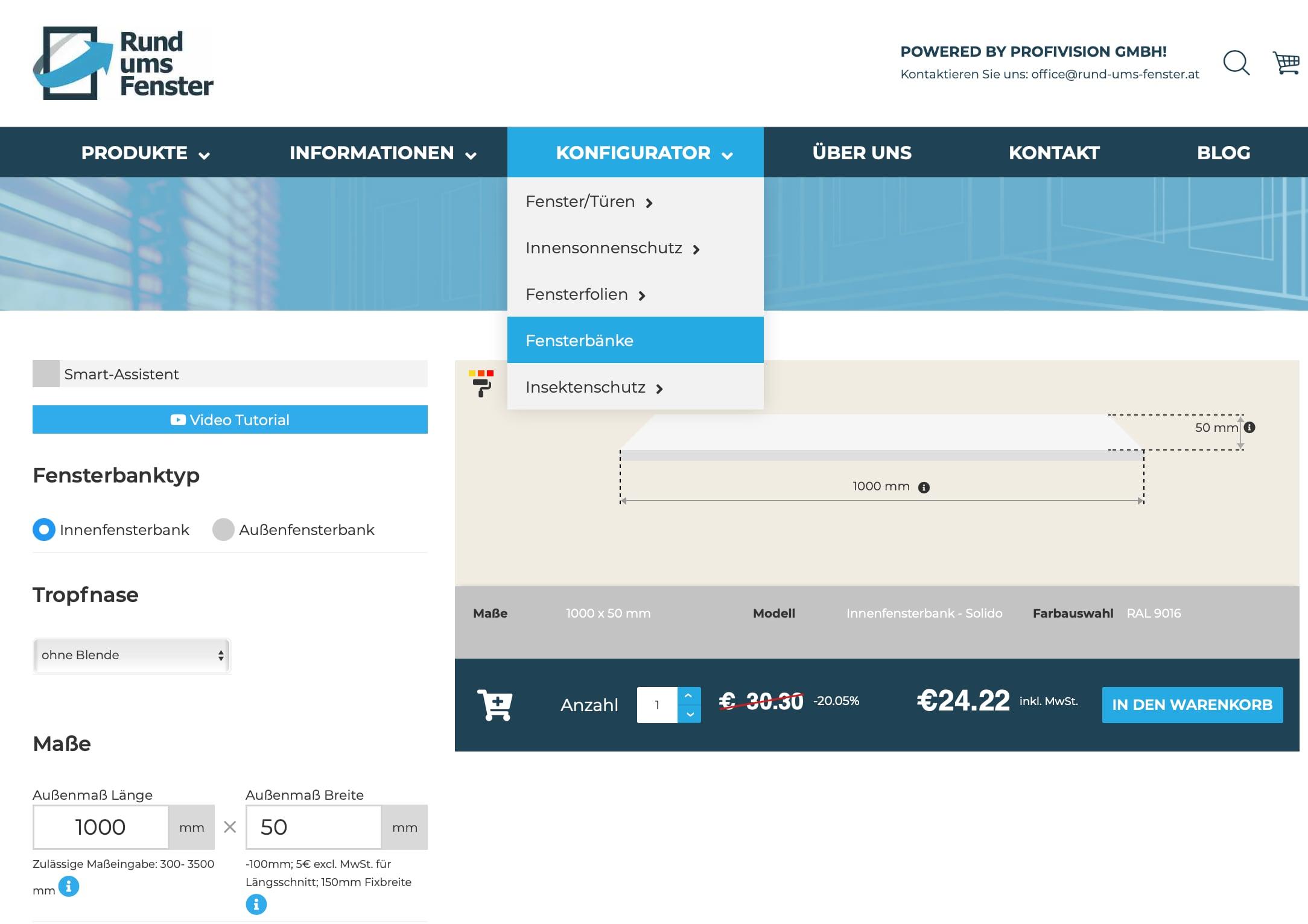 Innenfensterbänke-Online-Konfigurator-Smart-Asistent