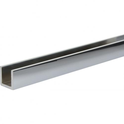 Aluminium U-Profil Glanzchrom poliert